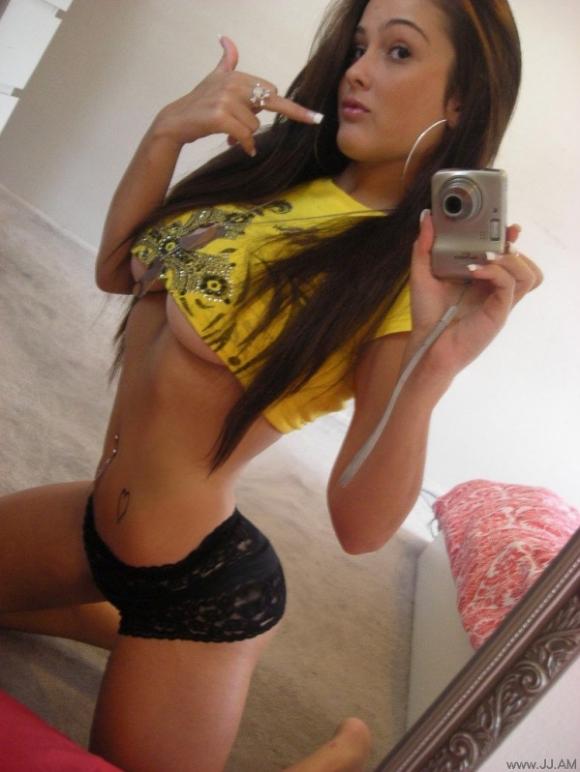 Sexy horny brunette